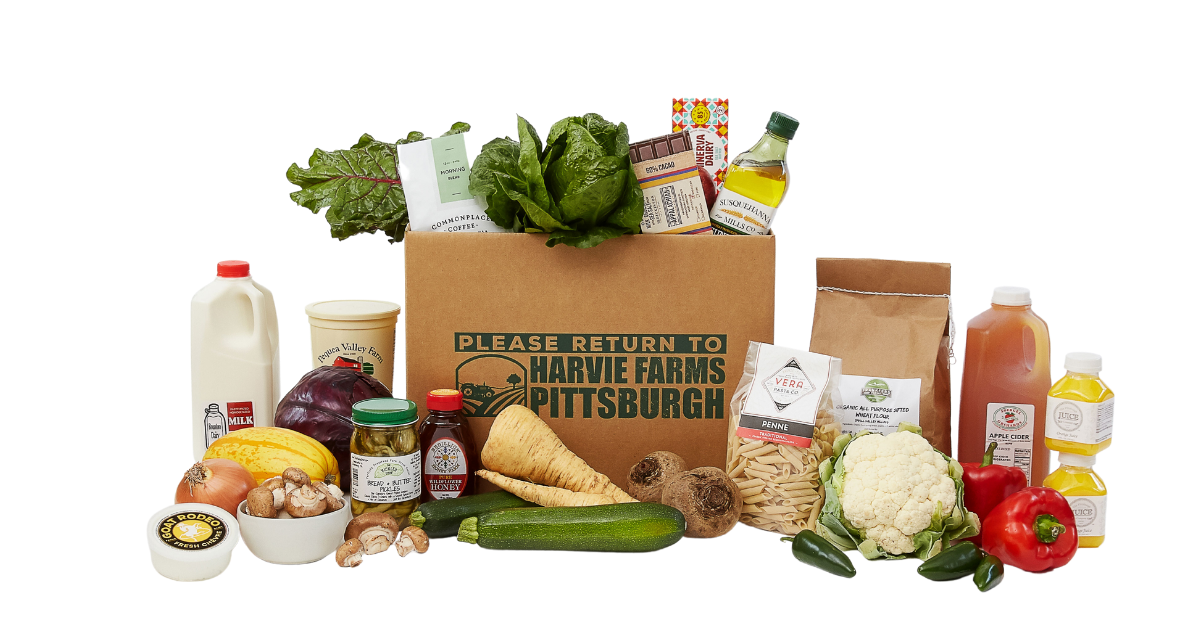 Harvie Farms Pittsburgh local grocery box