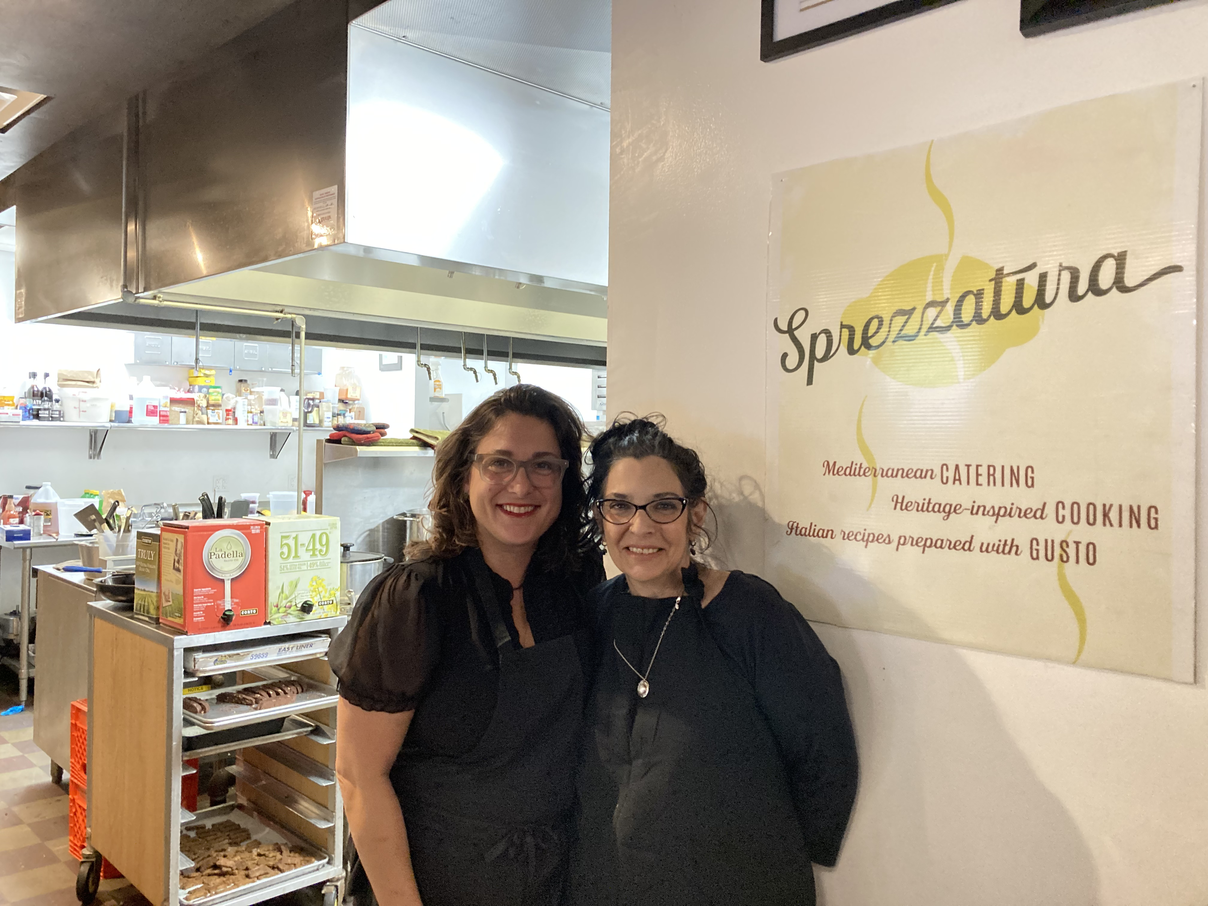 Jen and Lorraine at their kitchen in Millvale.